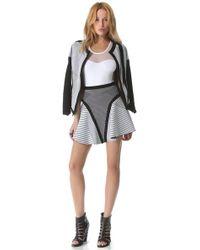 Ohne Titel - Banded Maze Skirt - Lyst