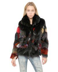 Philipp Plein Patchwork Fox Fur Coat - Lyst