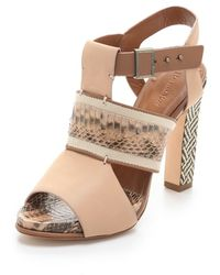 Rachel Roy - Faye Mixed Media Sandals - Lyst