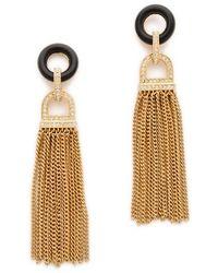 Rachel Zoe - Onyx Tassel Earrings - Lyst