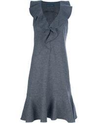 Ralph Lauren Blue Label - Ruffle Detailed Dress - Lyst