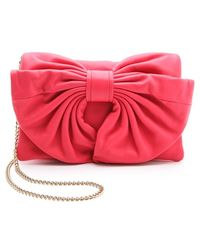 RED Valentino Small Leather Bow Bag - Lyst