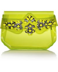 Shourouk Crystalembellished Pvc Clutch - Lyst