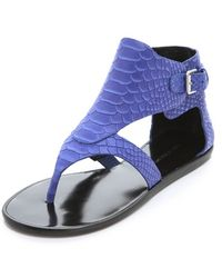 Sigerson Morrison Gillian Flat Sandals - Lyst