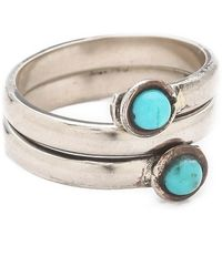 Sunahara Turquoise Wrap Mid Knuckle Ring - Metallic