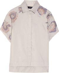 Suno Embroidered Cottonpoplin Shirt - Lyst