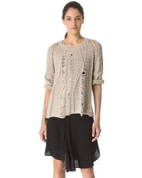 Tess Giberson | Disintegrating Cable Sweater | Lyst