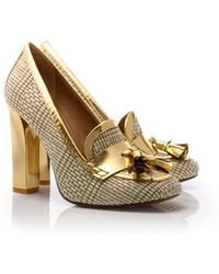 Tory Burch Metallic Careen Loafer Pump - Lyst