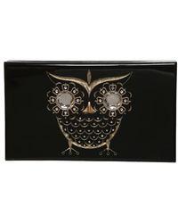 Charlotte Olympia Owl Pandora Perspex Clutch - Lyst