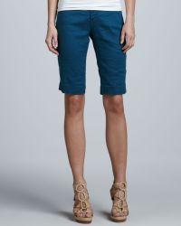Christopher Blue - Monaco Linen Liberty Bermuda Shorts - Lyst