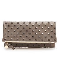 Clare Vivier Studded Fold Over Clutch - Lyst