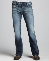 Diesel Zathan Faded Bootcut Jeans - Lyst