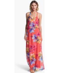 Ella Moss Print Silk Maxi Dress - Lyst