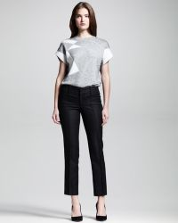 Helmut Lang Seamed Stove-pipe Ankle Pants - Lyst