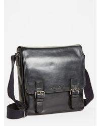 Kenneth Cole Vachetta Leather Messenger Bag - Lyst