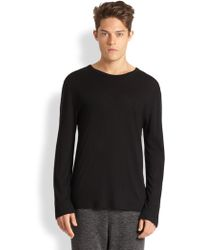 T By Alexander Wang Solid Cotton Tee - Lyst