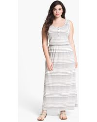 Two By Vince Camuto Stripe Maxi Dress - Lyst