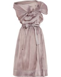 Vivienne Westwood Gold Label - Riding Asymmetric Silkorganza Dress - Lyst