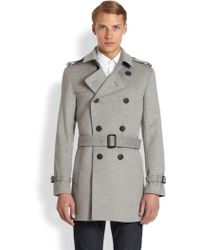 Burberry London Britton Wool/Cashmere Trench Coat - Lyst
