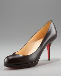 Christian Louboutin Leather Crescenttoe Pump - Lyst