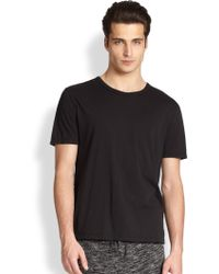 T By Alexander Wang Basic Cotton Tee - Lyst