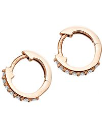 Halo - Mini Hoop Earrings - Lyst