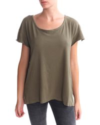Current/Elliott Oversized Tee Army - Lyst