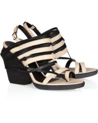 LD Tuttle - The Burn Twotone Leather Sandals - Lyst