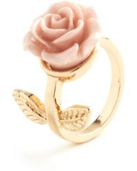 ModCloth Retro Rosie Ring in Leaves - Lyst