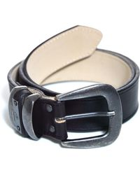 McQ by Alexander McQueen Plaque Leather Belt - Lyst