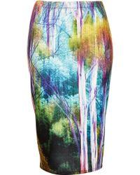 Topshop Petite Forest Blur Tube Skirt - Lyst
