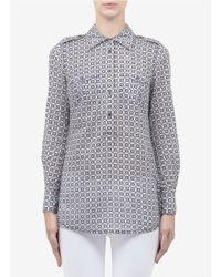 Tory Burch Brigitte Printed Cotton Shirt - Lyst