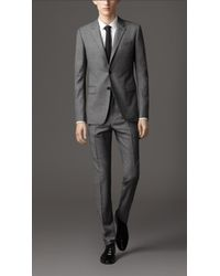 Burberry Slim Fit Travel Tailoring Wool Sharkskin Suit - Lyst