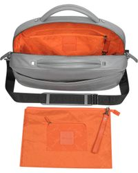 Giorgio Fedon - Tubefile Grey Leather Laptop Briefcase - Lyst