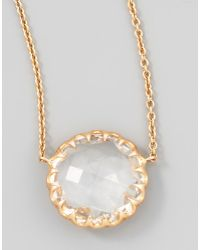 Ivanka Trump - Rose Gold Chain Rock Crystal Pendant Necklace - Lyst