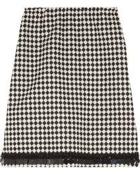 Marni Embellished Wool-Blend Jacquard Skirt - Lyst