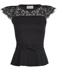 RED Valentino Lace Detail Top - Lyst