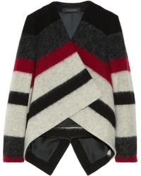 Thakoon - Striped Brushed Wool blend Jacket - Lyst