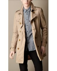 Burberry Mid-Length Lightweight Trench Coat - Lyst