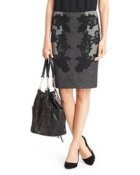 Diane von Furstenberg Maui Mini Weave Pencil Skirt - Lyst