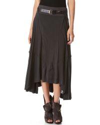 Donna Karan New York Full Skirt with Jersey Waistband - Lyst