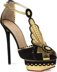 Charlotte Olympia Sunset Suede Platform Sandals - Lyst