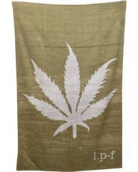 Lucien Pellat Finet - Leaf Beach Towel - Lyst