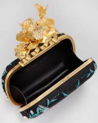 Alexander McQueen Apple Hummingbird Knuckleduster Embroidered Clutch Bag - Lyst