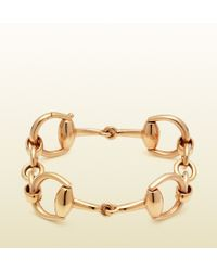 Gucci Horse Bit Bracelet in Yellow Gold - Lyst