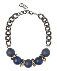 Jaeger - Large Textured Bead Necklace - Lyst