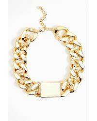Nasty Gal Id Necklace Gold - Lyst