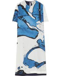 Preen By Thornton Bregazzi Maja Printed Silk Crepe De Chine Dress - Lyst