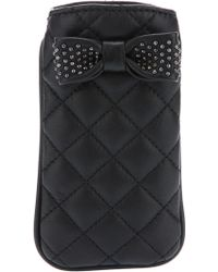 Boutique Moschino - Quilted Bow Phone Cover - Lyst