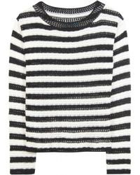 Alice + Olivia Ethan Boxy Striped Pullover - Lyst